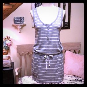 DKNY Gray & White Cover-Up